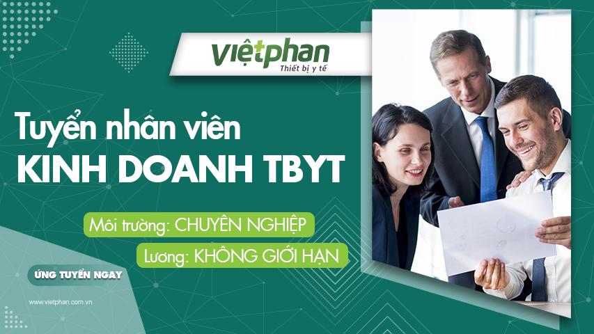 Tuyển Nhân viên kinh doanh TBYT Việt Phan
