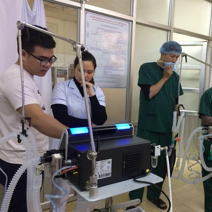 Máy thở tại BVĐK tỉnh Điện Biên